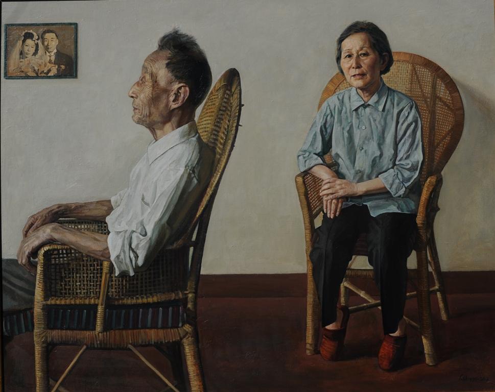 Art Atrium 03 Artist's Parents 双亲(2012)Oil on canvas 122 x 153cm