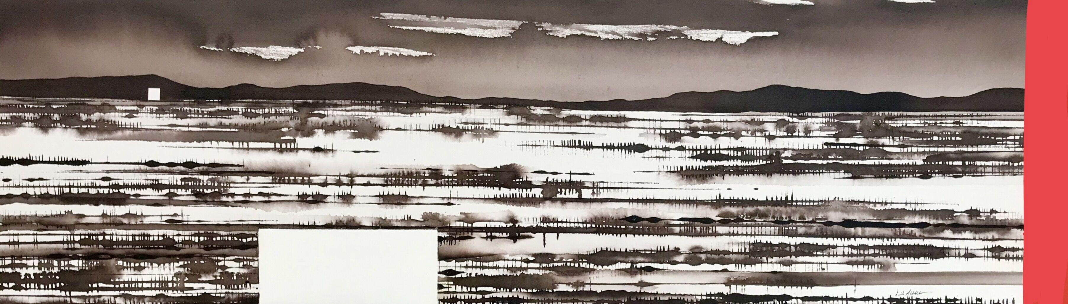 Art Atrium David Middlebrook Desert Fields and icon, Central Australia