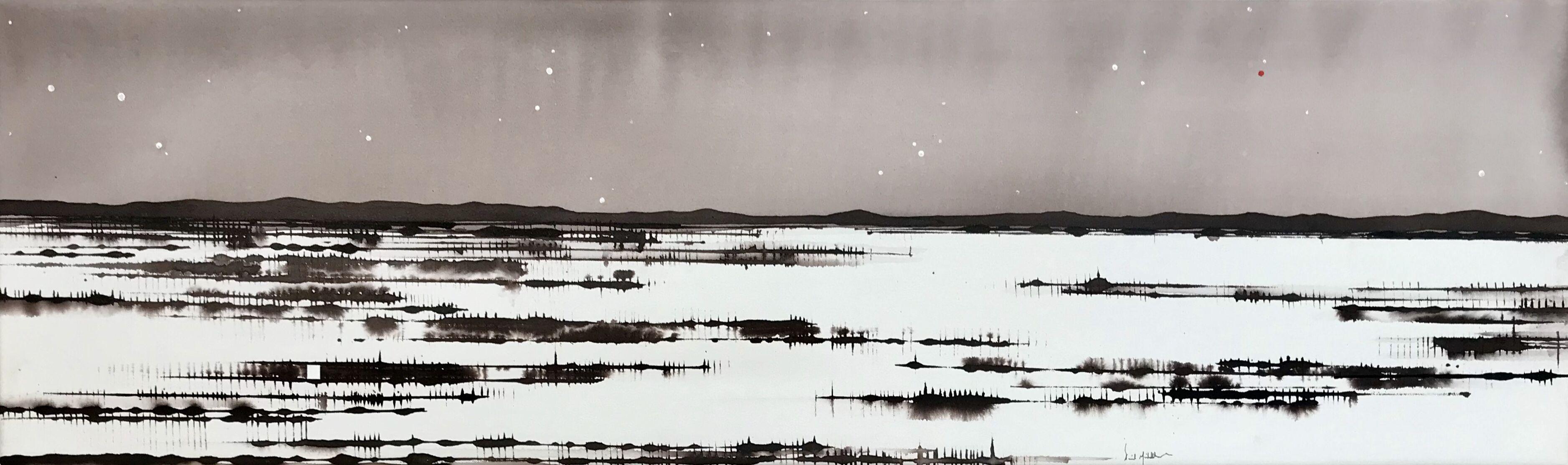 Art Atrium David Middlebrook Moonlight and Desert, Central Australia