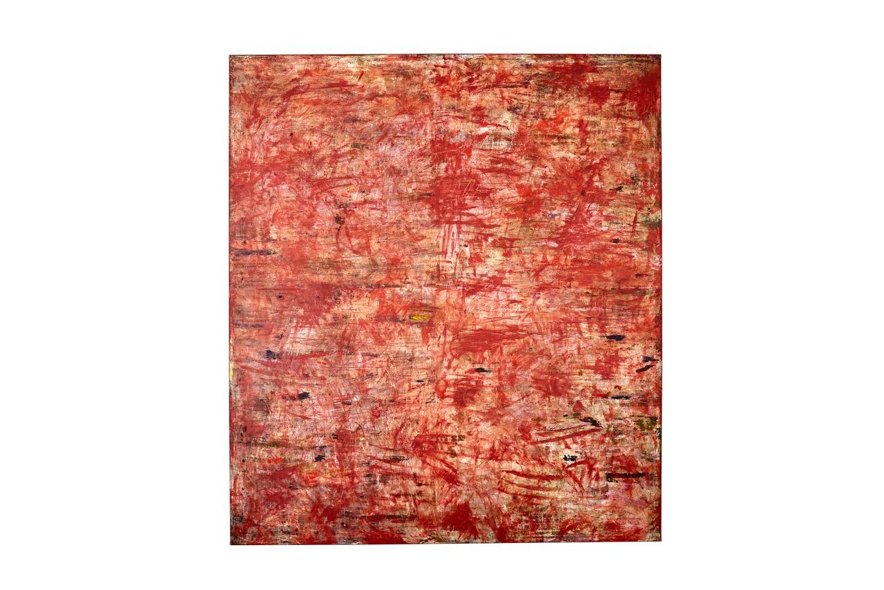 Art Atrium - Julie Harris - Desert Tales 2019 Acrylic and marble dust on canvas 155 x 137 cm