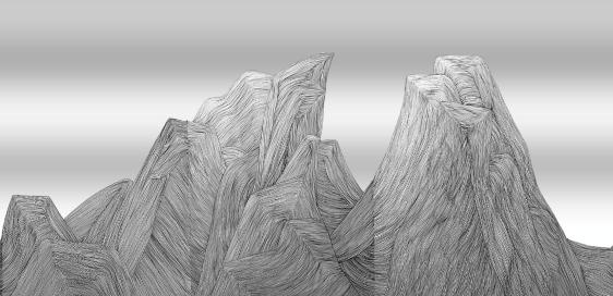 Art Atrium - Bingbing Chen Mountain series cropped