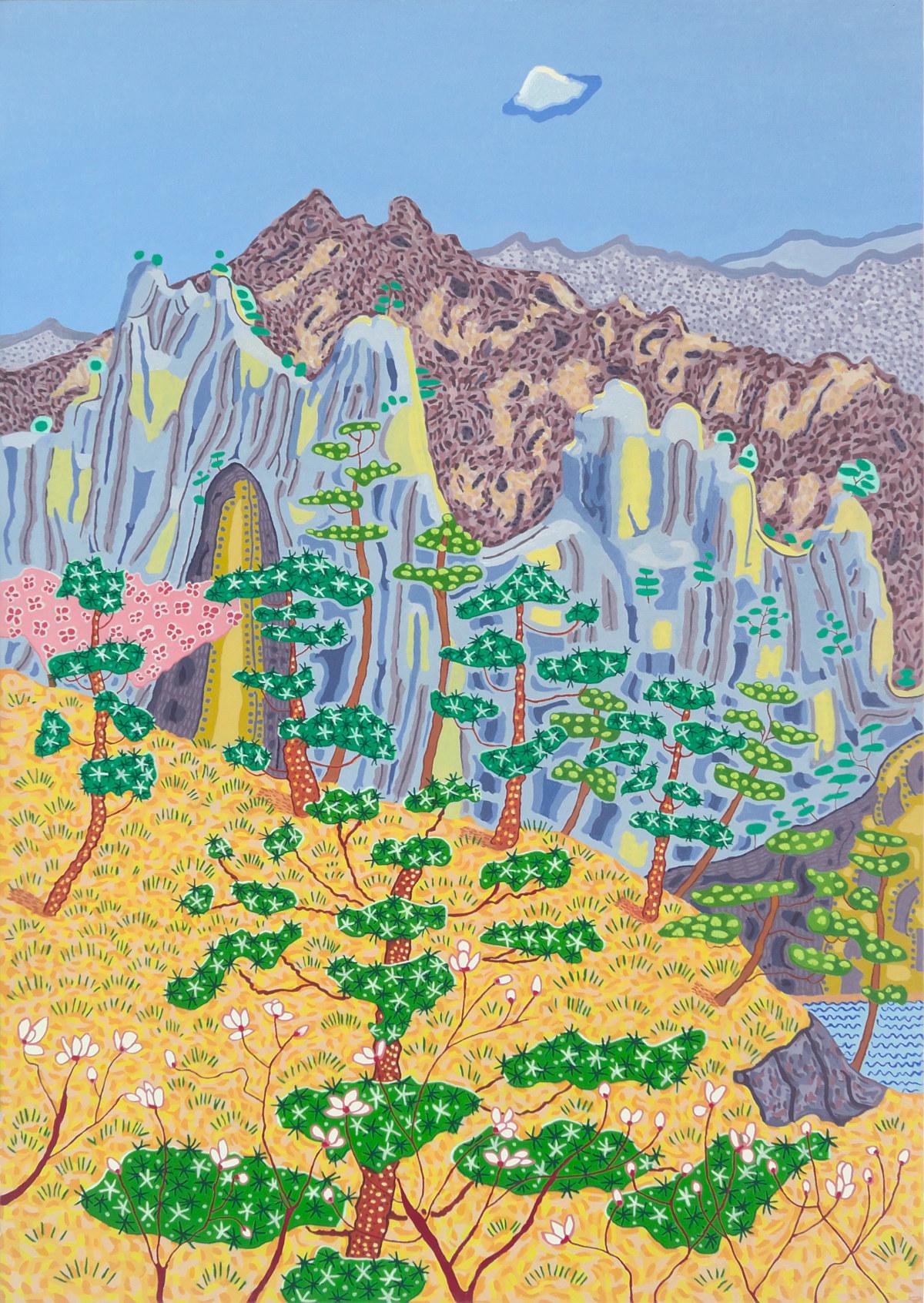 Art Atrium - Jacqueline Balassa Sunshine - Yellow Mountain