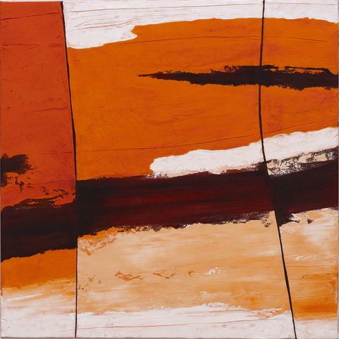 Art Atrium - Kate Birscoe - Rockface Strata Kimberley #2 76x76cm