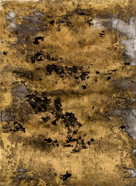 Goldwork #2 76 x 55 cm metallic paint and ink on paper 180731_HARRIS_015