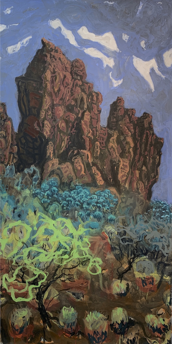 ROCK Paul Connor 'ROCK' Macdonnell Ranges.170x86cms Varnished gouache on canvas