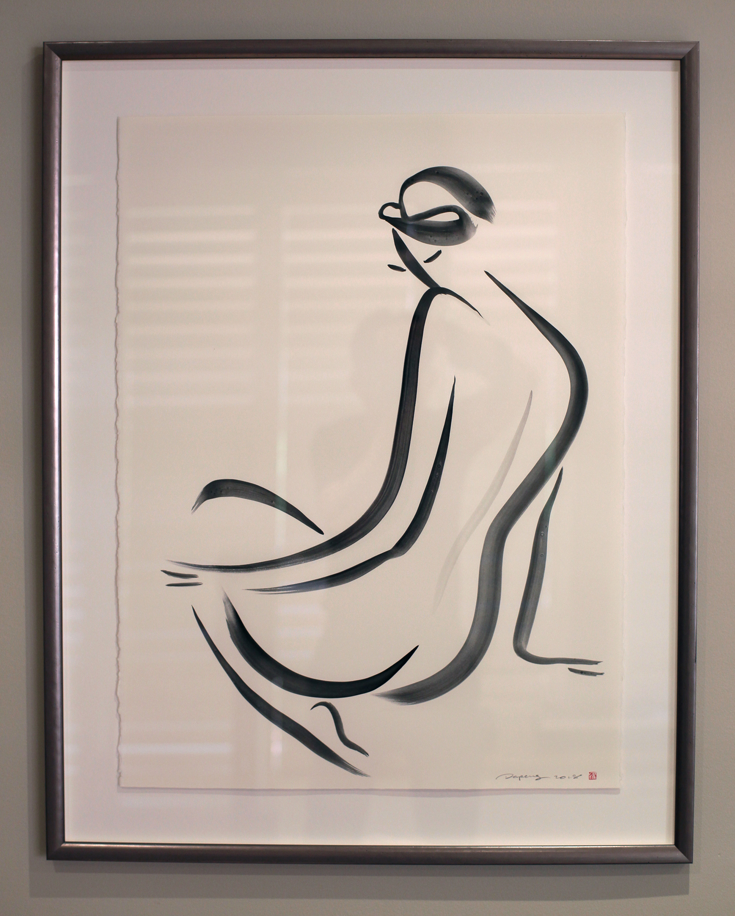 Untitled Nude Series, Gouache on Paper, 56x76cm, 2018