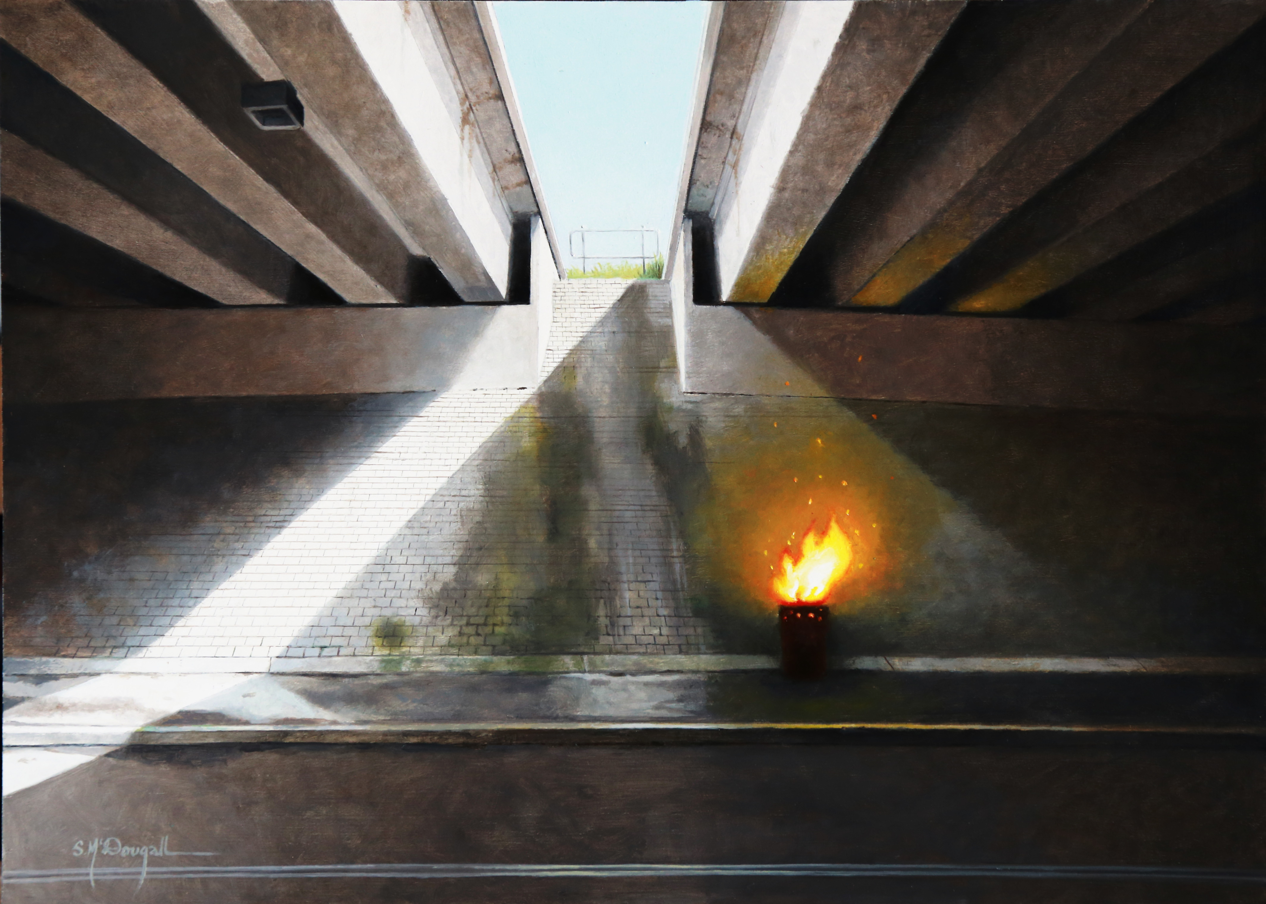 Art Atrium Scott McDougall Overpass study_26cmx36cm